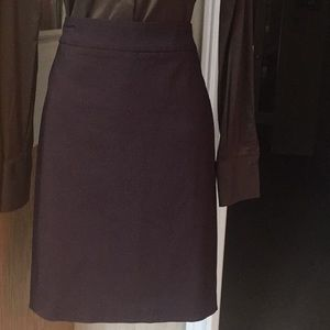 Wine/burgundy with black pencil skirt